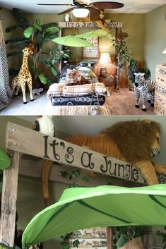 Wie man ein Dschungel-Thema-Schlafzimmer entwirft: 27 Dschungel-Thema-Schlafzimmer-Ideen How to Design a Jungle Theme Bedroom: 27 Jungle Theme Bedroom Ideas, Boys Jungle Bedroom, Jungle Theme Rooms, Safari Bedroom, Animal Bedroom, Baby Bedroom, Kids Bedroom, Jungle Nursery, Themed Rooms, Bedroom Themes