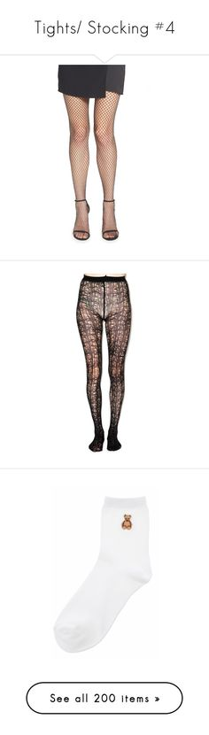 """Tights/ Stocking #4"" by candyhyperkidd ❤ liked on Polyvore featuring intimates, hosiery, tights, black, fishnet stockings, fishnet hosiery, sparkle pantyhose, nordstrom pantyhose, fishnet tights and doll stockings"
