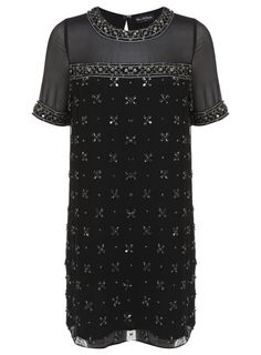 Black Twinkle Dress w sequins and sheer