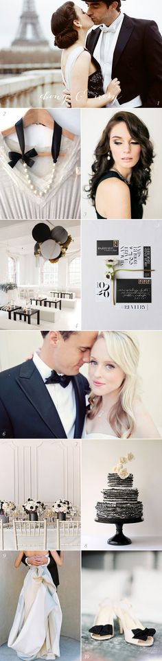 Black and White Wedding Inspiration #watters #wedding #blackandwhite www.pinterest.com/wattersdesigns/