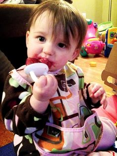 #babybullet I use the bullet to make fresh fruit freezer pops too.  Healthy and great for #teething! #babyfood