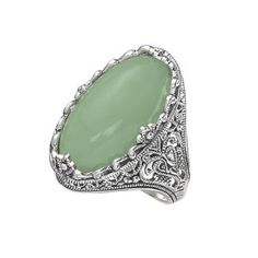 Genuine Green Jade and Sterling Filigree Ring - Earrings, Necklaces, Rings, Bracelets, Pendants and More - Unique Jewelry at Affordable Prices | Nature's Jewelry