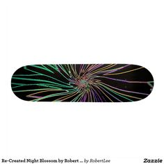 Re-Created Night Blossom by Robert S. Lee Skate Decks #Skateboard #robert, #lee, #board, #decks, #skater, #design, #colors, #customizable, #re-created