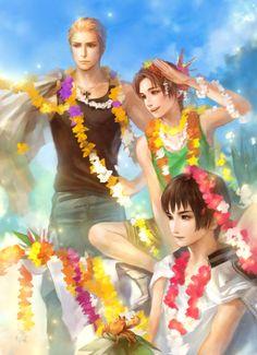 Tags: Anime, Fanart, Axis Powers: Hetalia, Japan, North Italy