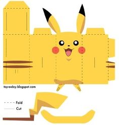 43 Simple Anime & Manga Gift Crafts to Make at Home Pokemon Papercraft, Pokemon Craft, Pokemon Party, Pokemon Birthday, Pokemon Go, Diy Birthday, Pikachu Pikachu, Charmander, Toy Craft