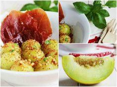 Una receta de lo más gourmet: melón con polvo de jamón y vinagreta de cacahuetes