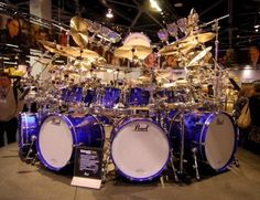 Wow! This amazing biggest drum kit I've ever seen. I need to get it but I don't think it will fit in the house! :)