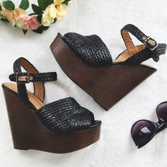 """NWOT Chinese Laundry Wedges How cute are these?! Super high, very versatile wedges that go with everything! Never worn so they're in perfect condition. 6"""" wedge Chinese Laundry Shoes Wedges"""