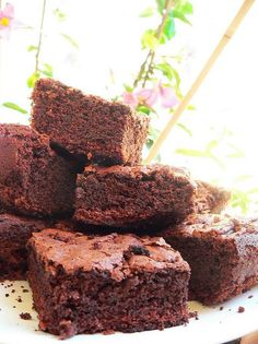 Thermomix Recipes: Chocolate Brownies with Thermomix. 1 tsp baking powder, at Hcg Recipes, Wrap Recipes, Sweet Recipes, Cake Recipes, Dessert Recipes, Cooking Recipes, Cheddarwurst Recipe, Dessert Thermomix, Bellini Recipe