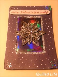 Quilled Life: Nocne, grudniowe niebo #quilling #handmade #handcraft #snowflake #Christmas #Christmascard #DIY