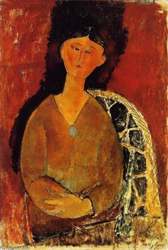 'Beatrice Hastings, Sentado', óleo de Amedeo Modigliani (1884-1920, Italy)