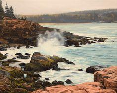 Maine Coast  - 16x20 oil painting by Nick Savides #acadia #Maine #oilpainting #art