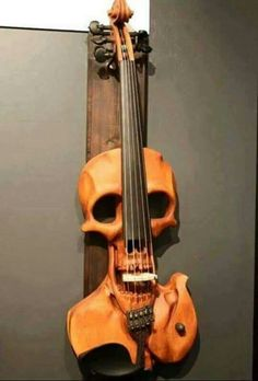 skull violin___ had to stop playing mine years ago. this is a good symbol for the feeling ___ as a musician, I played my favorite instruments, they were like friends to me. Guitar Art, Cool Guitar, Tattoos Pinterest, Custom Guitars, Vanitas, Skull And Bones, Skull Art, Music Stuff, Ukulele