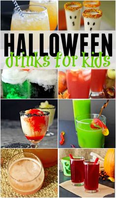 Halloween Drinks for Kids - Huhn Handwerk Halloween Snacks, Halloween Punch For Kids, Childrens Halloween Party, Table Halloween, Halloween Backdrop, Adult Halloween, Halloween 2020, Happy Halloween, Kids Punch