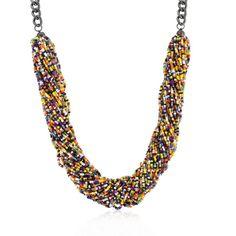 Multicolor Acrylic Bead Twisting Necklace