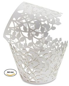 CUPCAKE WRAPPERS - 50 Pack White Shimmering Lace Decorati... https://www.amazon.com/dp/B01MRJTHZ2/ref=cm_sw_r_pi_dp_x_pyRQybM78K8CQ