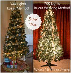 how to hang christmas tree lights - Best Way To Put Lights On A Christmas Tree