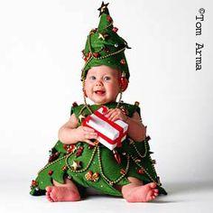 déguisement sapin de noël pour bébé