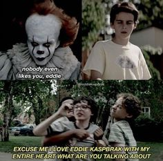A gay couple in the homophobic town of Derry is unheard of, outcasted… # Fanfiction # amreading # books # wattpad Film Meme, Movie Memes, Es Pennywise, Pennywise The Dancing Clown, It Movie Cast, I Movie, It Cast, Memes Humor, It Memes