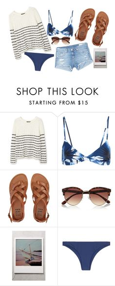 """Untitled #69"" by aelgreen-1 on Polyvore featuring MANGO, Mikoh, Billabong, River Island and rag & bone/JEAN"
