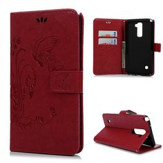Vintage Embossing Butterflies Case Cover for LG Stylus 2 LG LS775 5.7'' PU Leather Stand Full Protective Floral Printing Shell US $4.00
