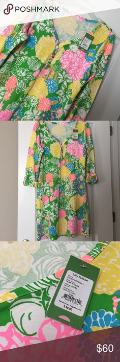 NWT Palmetto Dress Hibiscus Stroll Lilly Pulitzer Dresses