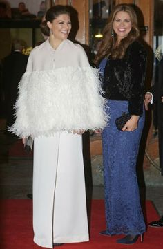 Members of the Swedish Royal Family attended a gala performance at the Oscars Theatre for celebration of Queen Silvia's upcoming 70th birthday on December 23. 2013