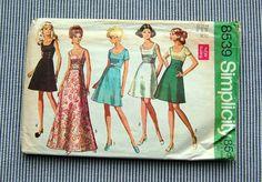 Vintage 1960s Simiplicity Party Dress Pattern 8539 by sewsewetc, $4.00