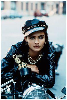 Helena Christensen Photographed by Peter Lindbergh, Vogue, 1991