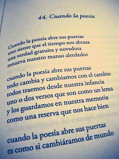 Mario Benedetti - Cuando la poesía