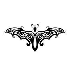 Tribal Tattoo, Halloween bat with large wings. Download a Free Preview or High Quality Adobe Illustrator Ai, EPS, PDF and High Resolution JPEG versions.
