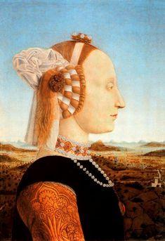 Battista Sforza  Pintor: Piero Della Francesca Galería de los Uffizi. Florencia