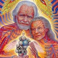 """""""The Shulgins and their Alchemical Angels - Alex Grey Visionary Art Art Gris, Allyson Grey, Alex Gray Art, Statues, Art Visionnaire, Psy Art, Process Art, Tree Of Life, Artists"""