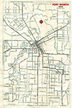 1936 Fort Worth street map  https://www.pinterest.com/kcsofa/foat-wuth-i-luv-u/