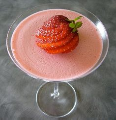 Mouthwatering strawberry mousse