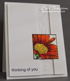 thinking of you card by Loll Thompson