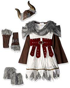 California Costumes Valorous Viking Girl Costume, Multi, ...
