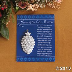 "The Legend of Stocking | Legend Of The Silver Pinecone"" Ornaments, Ornaments, Party ..."