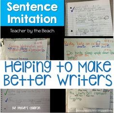 Sentence Imitation - for Any Grade!