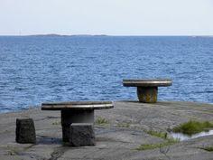 Tables at Cafe 'Neljän tuulen tupa', Hanko Finland Photo Juha Meriluoto