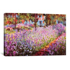 Add a delightful pop of style above your living room or master suite with this lovely canvas print, depicting Claude Monet's Jardin de Giverny.    ...