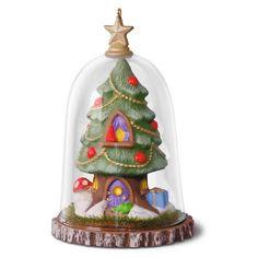 Gnome for the Holidays Terrarium Tree Ornament