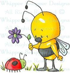Beebug - Bugs - Rubber Stamps