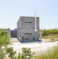 Cinder block tiny house my domestic style pinterest for Modern concrete block house plans