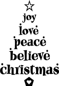 Joy Love Peace Believe Christmas cute vinyl wall quotes arts sayings decals -- Find out more about the great product at the image link. Christmas Tree Vinyl, Christmas Quotes, Christmas Wallpaper, Christmas Pictures, Christmas Ideas, Holiday Ideas, Merry Christmas, Christmas Gifts, Christmas Nails
