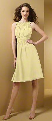 Yellow bridesmaid dress - Alfred Angelo