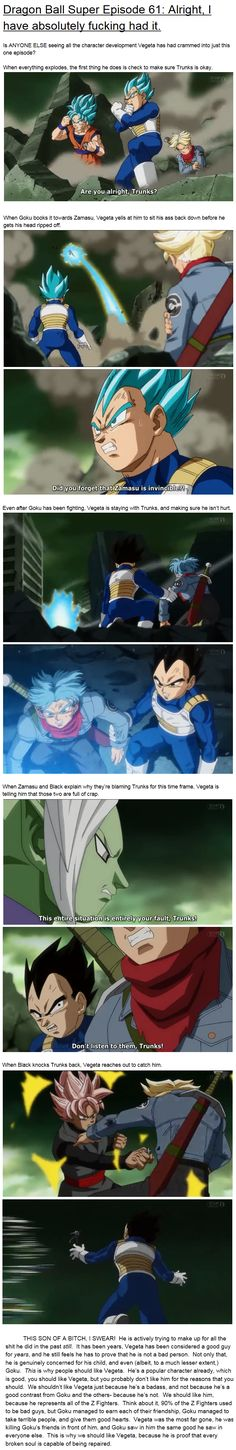 Dragon Ball Super - Vegeta, Trunks, Goku, Black, Zamasu