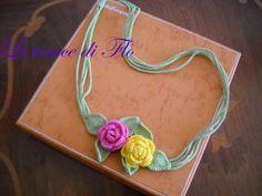 spring necklace crochet