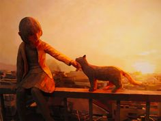 Shintaro Ohata combines sculpture and canvas in his art- Old memories