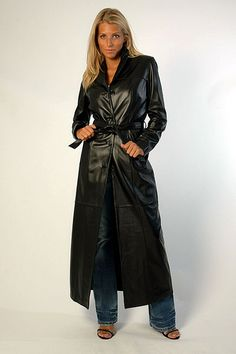 Explore loleather's photos on Flickr. loleather has uploaded 229 photos to Flickr. Long Leather Coat, Leather Trench Coat, Black Leather, Penny Lane, Rain Wear, Leather Fashion, Jackets For Women, Women's Jackets, Lady